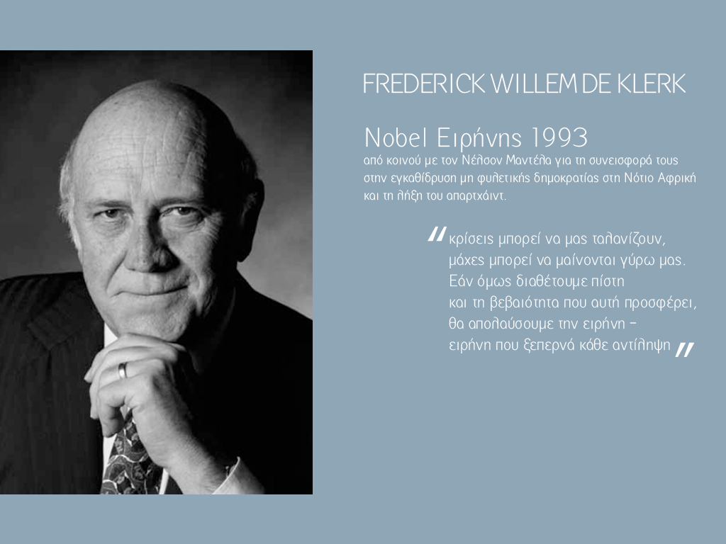 Frederick Willem de Klerk page